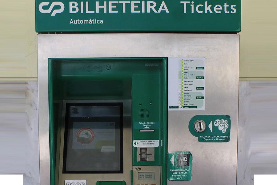 Bilheteria para metro Lisboa
