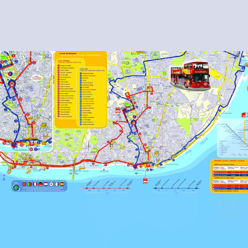 Mapaônibus turístico Lisboa