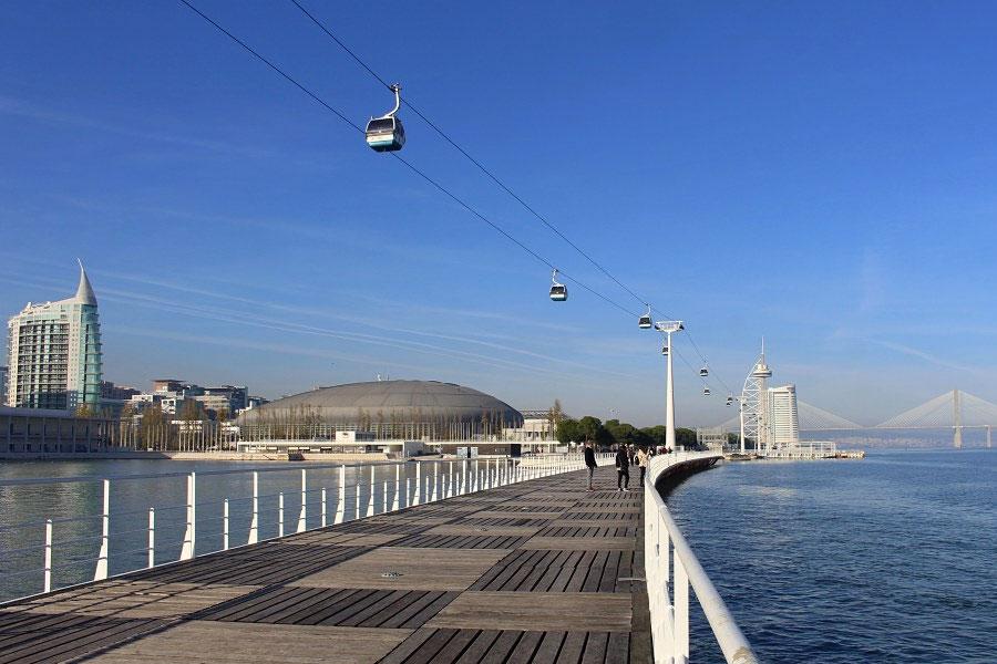 teleférico na cidade de Lisboa