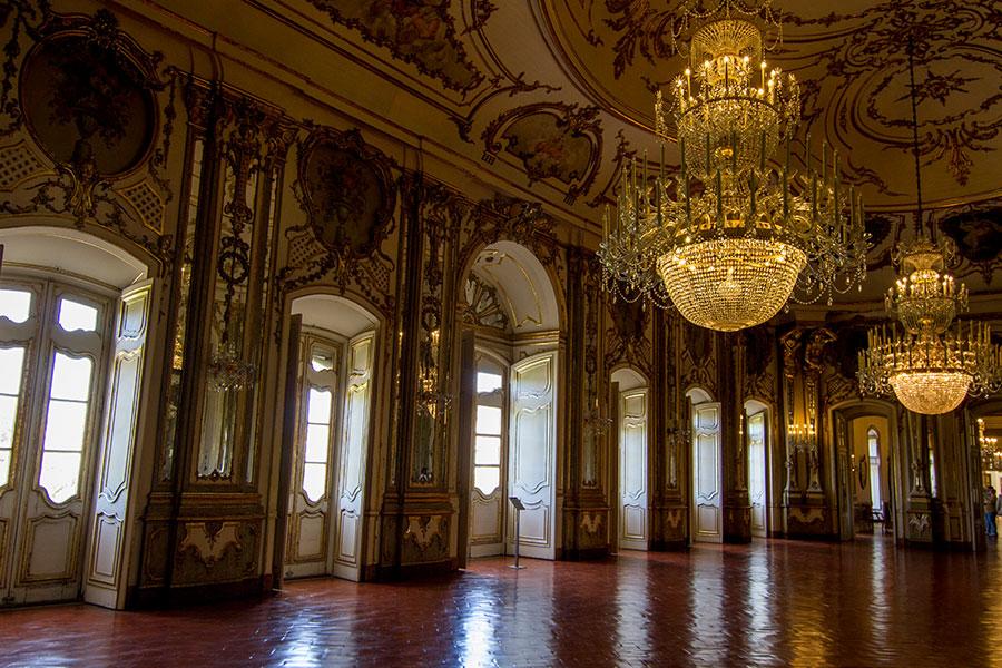 palácio queluz interior